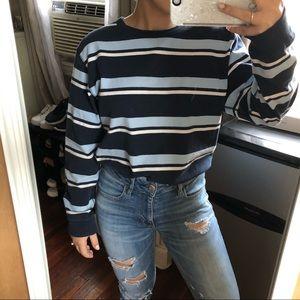 Vintage Blue Striped Longsleeve